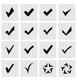 confirm icon set vector image vector image