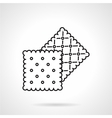 Crisp cookie black line icon vector image