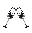cup icon two glass champagne celebration vector image vector image