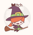 cute chibi kawaii characters halloween vector image
