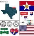 Dallas Texas set vector image vector image