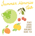 Delicious autumn Summer Memories tea recipe vector image vector image
