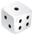 Dice with black dots vector image