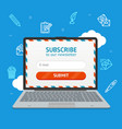 email subscribe form vector image