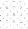 farm icons pattern seamless white background vector image vector image
