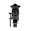 farmer woman icon sign o vector image vector image