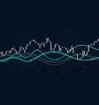 financial stock market data statistics charts vector image