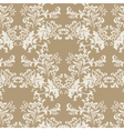 floral damask baroque ornament pattern vector image vector image