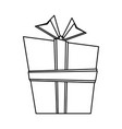 giftbox present cartoon isolated in black and vector image vector image