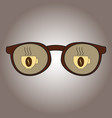 glasses with reflection in them mugs with coffee vector image