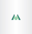 green logo of letter m icon vector image vector image