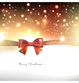 Greeting card with red bows and copy space vector image vector image