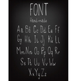 Hand-drawn stylish slim font vector image