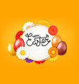 happy easter banner christial holiday greeting vector image
