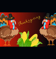 happy thanksgiving card celebration banner design vector image vector image