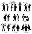 human man character behaviour stick figure vector image