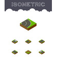 isometric road set of turn cracks unfinished and vector image vector image