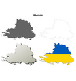 Kherson blank outline map set vector image vector image