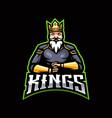 king gaming logo vector image vector image