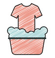 laundry pot with shirt vector image vector image