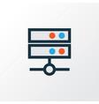 media server colorful outline symbol premium vector image