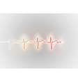medical symbol ekg red vector image vector image