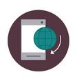 mobile banking smartphone world technology block vector image