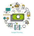 money control and budget planning vector image vector image