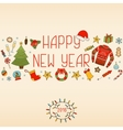 New Year decorations Hand drawn elements vector image vector image