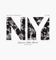 new york ny t-shirt design with camouflage vector image