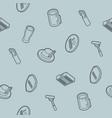 oktoberfest outline isometric pattern vector image vector image