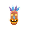 prehistoric oblongated african mask with opened vector image vector image