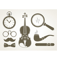 Retro detective accessories vector | Price: 1 Credit (USD $1)