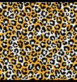 seamless leopard wild pattern animal print vector image