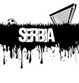 serbia with a soccer ball and gate vector image vector image