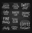 slogans chalkboard food menu vector image