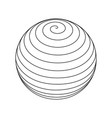 spiral circular rotating lines wireframe sphere vector image