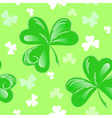 st patrick clover seamless vector image