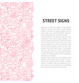 street signs line pattern concept vector image vector image