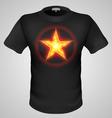 t shirts Black Fire Print man 07 vector image vector image