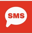 The sms icon Text message symbol Flat vector image vector image