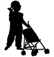 toddler silhouette vector image vector image