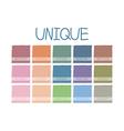 Unique Color Tone vector image vector image