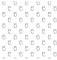 unique heart seamless pattern with various icons vector image