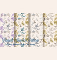 vintage damask patterns set collection old vector image