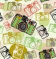 Vintage film camera seamless pattern pastel vector image vector image