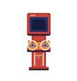 vintage game machine flat vector image vector image