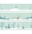 Winter Landscape Banners vector image