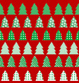 wrapping paper for christmas with christmas tree vector image vector image