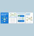 zero waste education brochure template layout eco vector image vector image